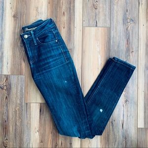 Guess Premium Daredevil Skinny Ripped/Paint Jeans